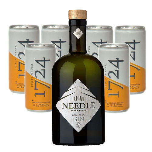 Needle Gin - Blackforest Distilled Dry Gin (0,5l) & 1724 Tonic Water Set