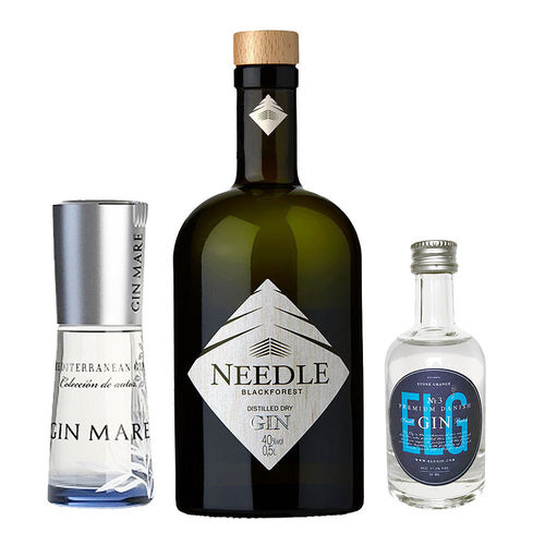 Needle Gin, Gin Mare + ELG Gin No. 3 - 3 spannende Gin