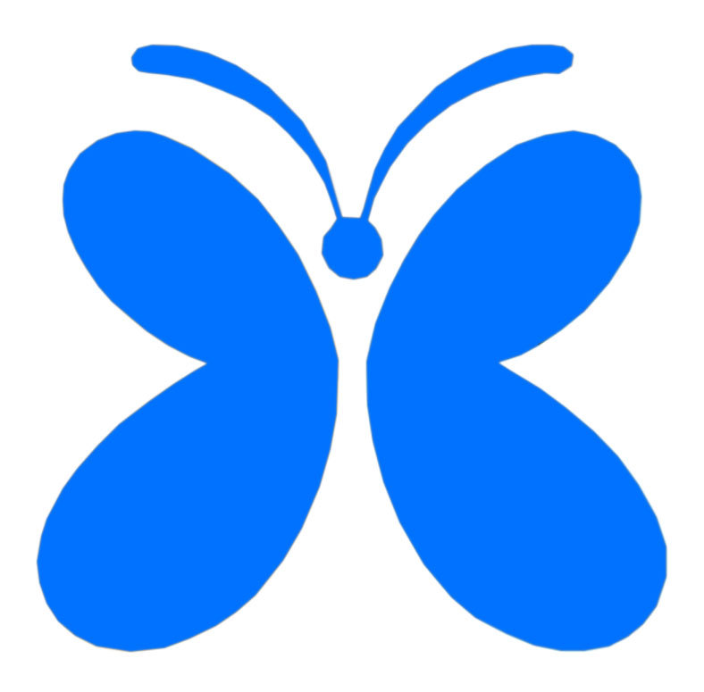 Butterfly Glas Trinkhalm
