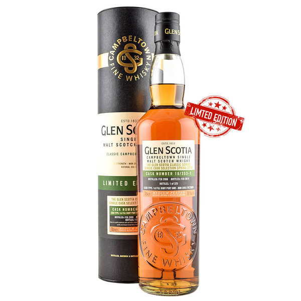 Glen Scotia Vintage 2008, Single Cask, Cask No. 18/353-1