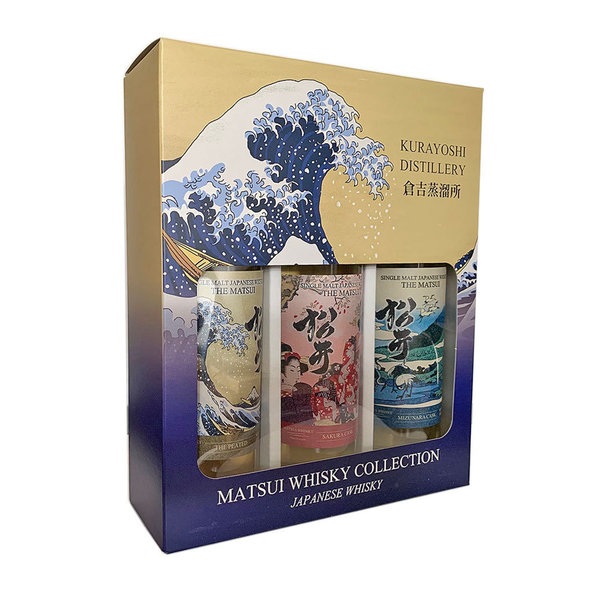 Matsui Whisky Triple-Pack Single Malt Japanese Whisky (3x0,2l)