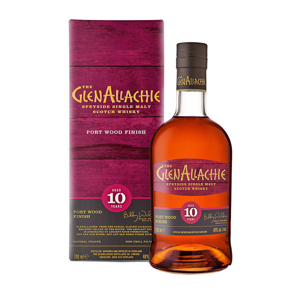 GlenAllachie 10 Jahre - Ruby Port Pipe Finish - Wood Finish Series #1