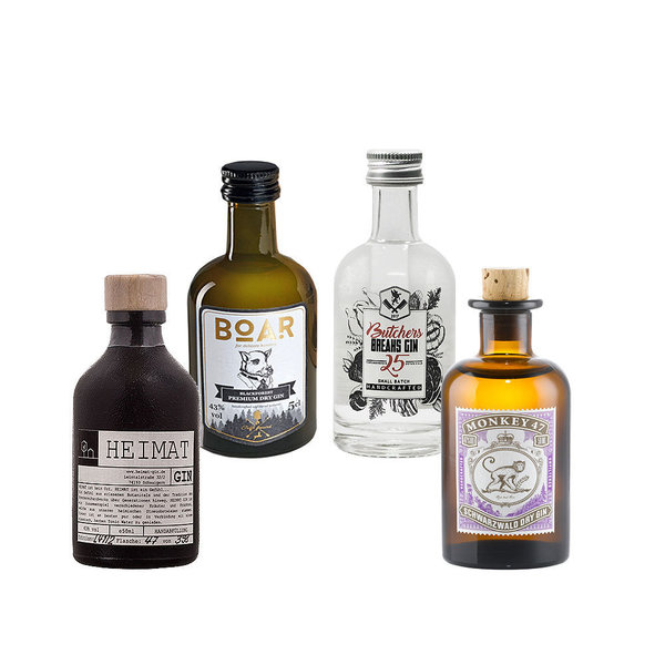 German Gin mini Collection No. 1 - 4 x original Gin minis