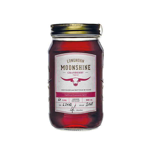 Longhorn Moonshine - Cranberry Likör (500ml)