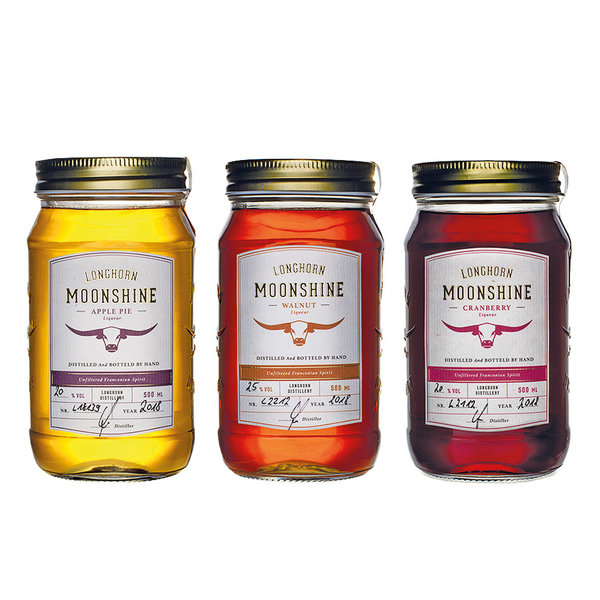 Longhorn Moonshine - 3er Likör Set (3x500ml)