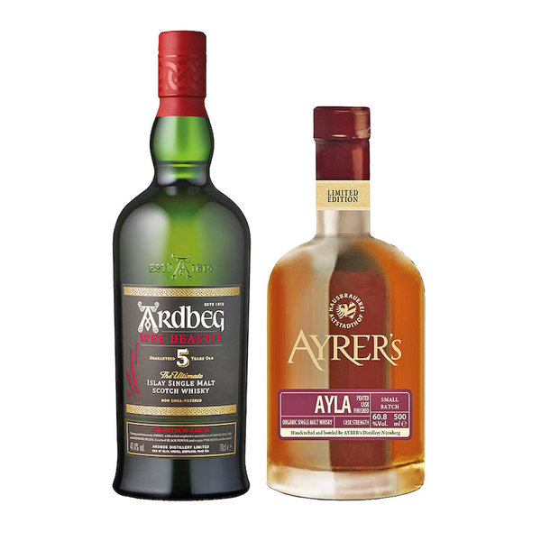 Ardbeg Wee Beastie + Ayrer´s AYLA - 2 x Single Malt Whisky