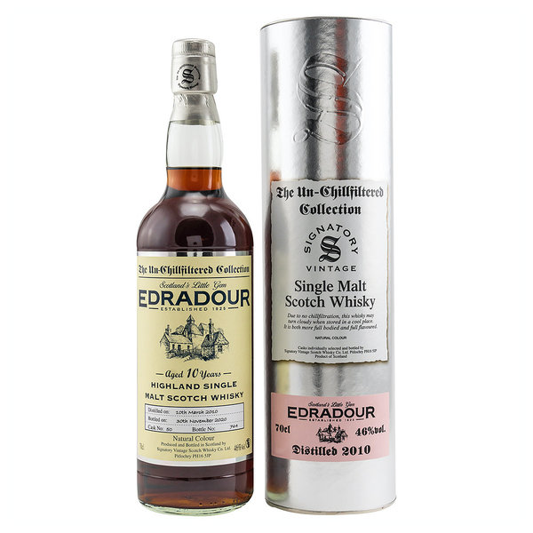 Edradour 20010/2020 - Signatory Un-Chillfitered Collection Highland Single Malt Whisky